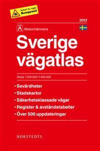 Sverige Vägatlas 2013 Motormännen - 1:250000-1:400000