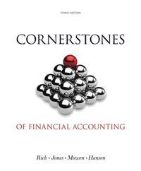 Cornerstones of Financial Accounting [With Booklet]