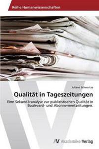 Qualitat in Tageszeitungen
