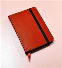 Monsieur Notebook Red Leather Ruled Small
