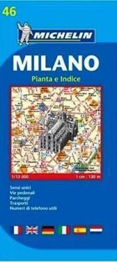 Milano Michelin 46 stadskarta : 1:13000