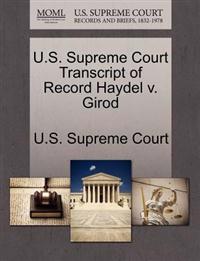 U.S. Supreme Court Transcript of Record Haydel V. Girod
