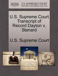 U.S. Supreme Court Transcript of Record Dayton V. Stanard