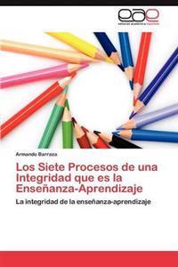 Los Siete Procesos de Una Integridad Que Es La Ensenanza-Aprendizaje