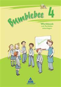 Bumblebee 4. Workbook mit Portfoliounterlagen für Englisch in Klasse 4