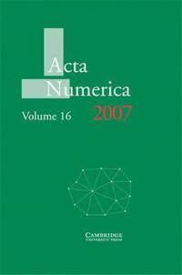 Acta Numerica Acta Numerica 2007: Series Number 16