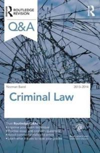 Q&A Criminal Law 2013-2014
