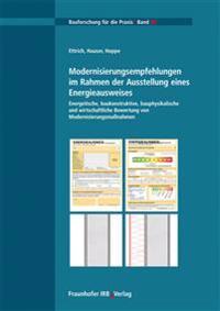 Modernisierungsempfehlungen im Rahmen der Ausstellung eines Energieausweises