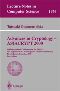 Advances in Cryptology - ASIACRYPT 2000