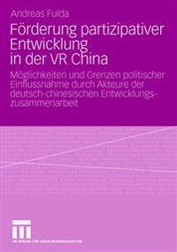 F�rderung Partizipativer Entwicklung in Der VR China