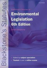Blackstone's Environmental Legislation