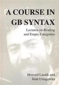 A Course In GB Syntax