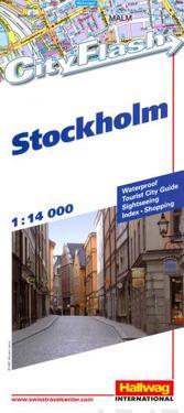 Stockhom City Flash Hallwag stadskarta : 1:14000