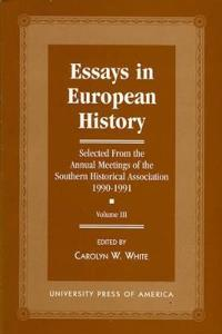 Essays in European History