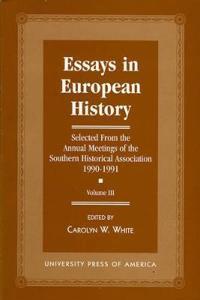 Essays in European History