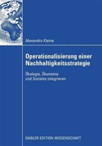 Operationalisierung Einer Nachhaltigkeitsstrategie