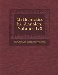 Mathematische Annalen, Volume 179