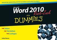 Word 2010 Fur Dummies Ruck-Zuck