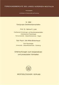 Untersuchungen Zum Kooperativen Und Prosozialen Verhalten
