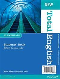 New Total English Elementary eText Students' Book Access Card