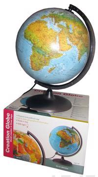 Koottava karttapallo (30 cm, muovijalka, valo, suomenkielinen)