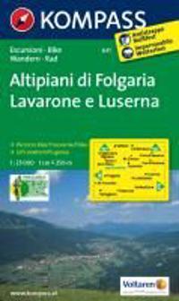 Alpe Cimbra, Folgaria, Lavarone, Lusérn 1 : 25 000