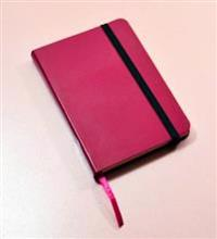 Monsieur Notebook Pink Leather Ruled Small