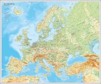 Europa väggkarta Norstedts 1:5.5 milj i tub : 1:5,5milj