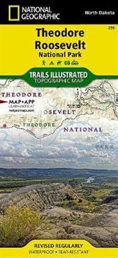 National Geographic Trails Illustrated Theodore Roosevelt National Park, North Dakota, USA