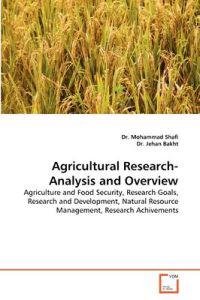 Agricultural Research-Analysis and Overview
