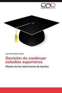 Decision de Continuar Estudios Superiores