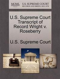 U.S. Supreme Court Transcript of Record Wright V. Roseberry