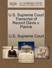 U.S. Supreme Court Transcript of Record Davis V. Patrick