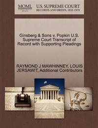 Ginsberg & Sons V. Popkin U.S. Supreme Court Transcript of Record with Supporting Pleadings