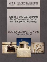 Gappa V. U S U.S. Supreme Court Transcript of Record with Supporting Pleadings