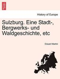 Sulzburg. Eine Stadt-, Bergwerks- Und Waldgeschichte, Etc