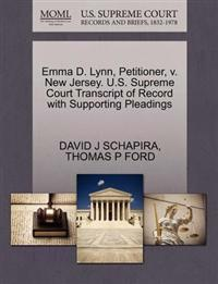 Emma D. Lynn, Petitioner, V. New Jersey. U.S. Supreme Court Transcript of Record with Supporting Pleadings