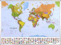 World political flat laminated