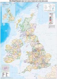 """""""Daily Telegraph"""" Map of Great Britain and Ireland, Including Locations of All the 2012 Olympic Venues"""