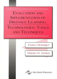 Evaluation and Implementation of Distance Learning