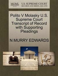 Polito V Molasky U.S. Supreme Court Transcript of Record with Supporting Pleadings