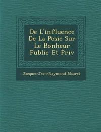 De L'influence De La Po¿sie Sur Le Bonheur Public Et Priv¿